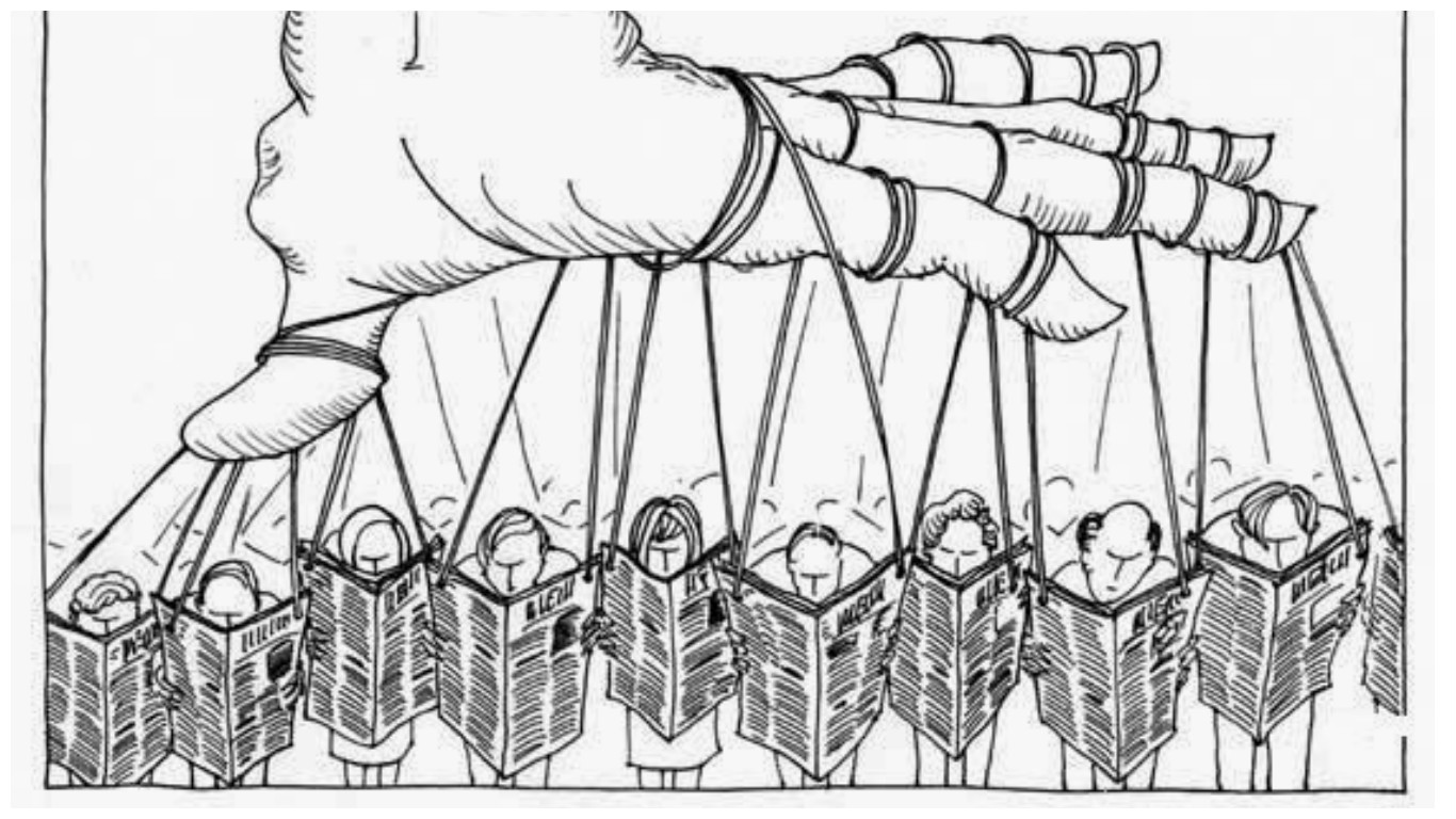 the exploitation of the media democratic illusion or totalitarian actuality A totalitarian dictatorship does not hide its true agenda it silences free speech with the concentration camp or the gun the pseudo-democracy uses a much more effective method, it goes right to the root.
