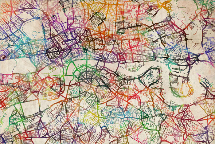 419 london map poster