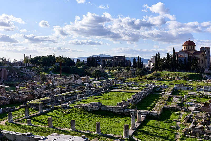 800px Ruins of the Pompeion at the cemetery of Kerameikos
