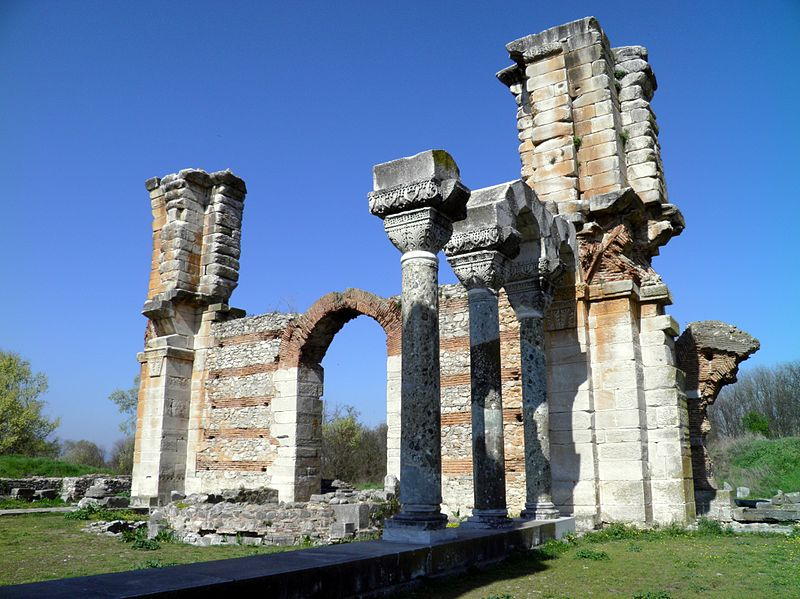 The imposing basilica next to the Forum and its gagantic pillars also known as Basilica B Philippi 7272621716