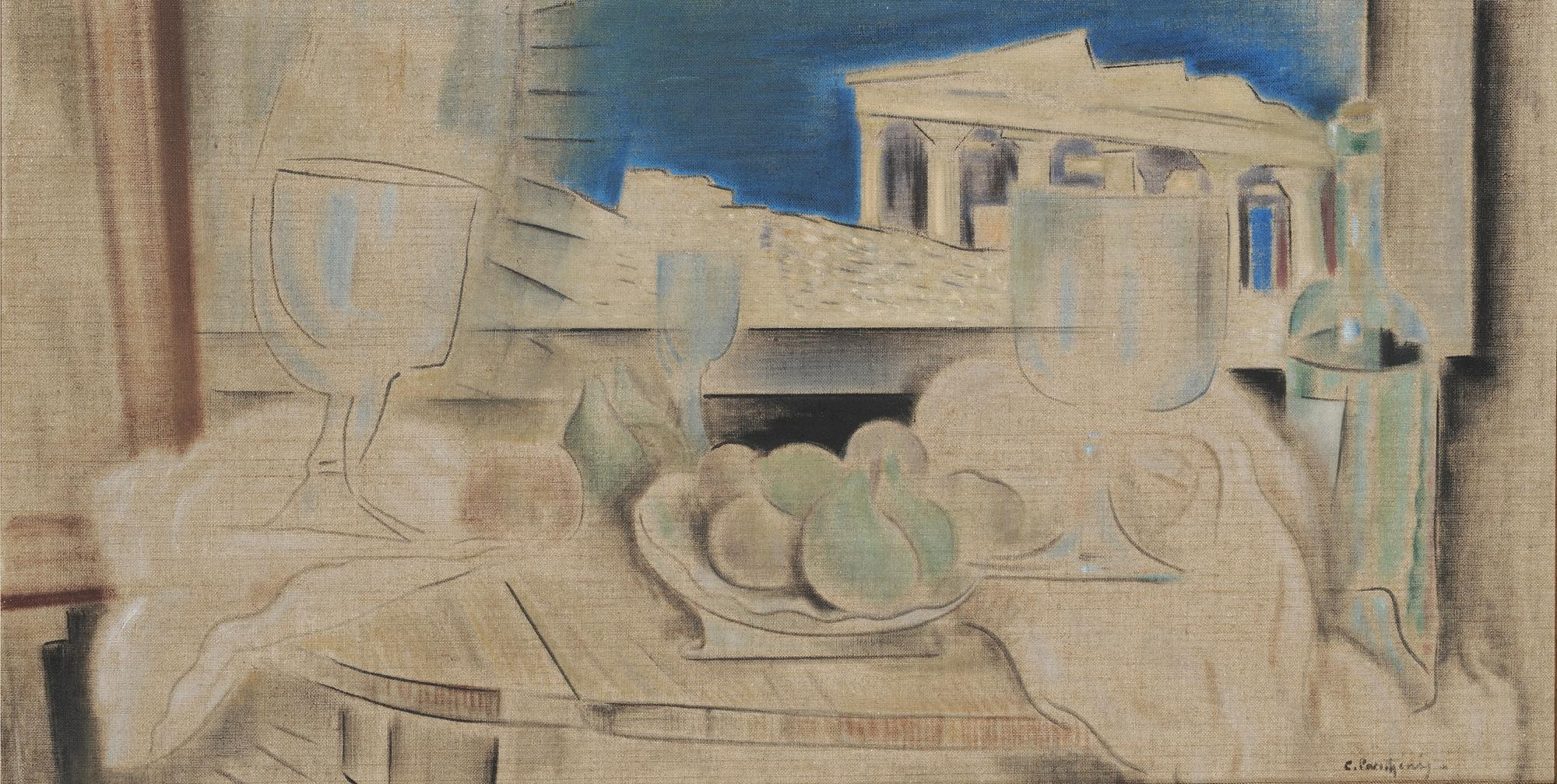 Still Life with Acropolis in the Background NG before 1931 oil on canvas